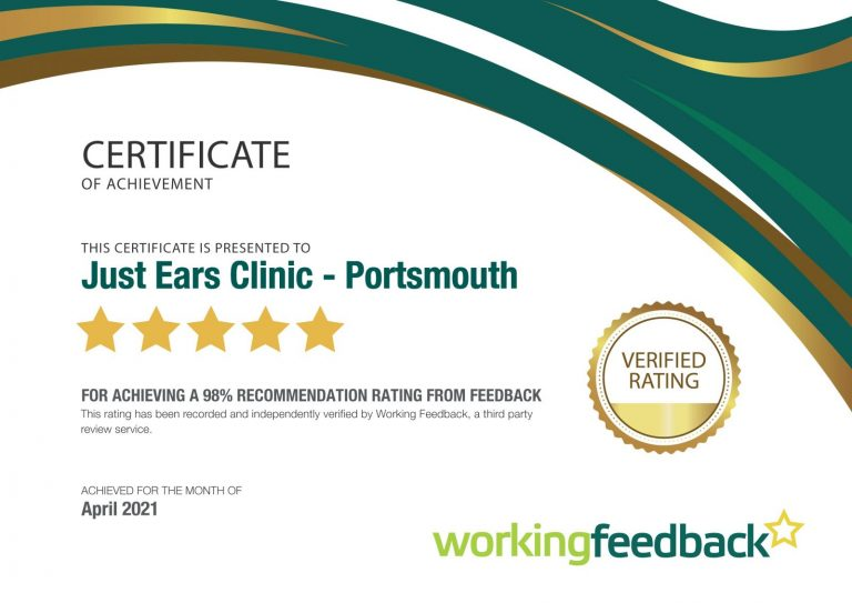 Portsmouth Certificate April 2021